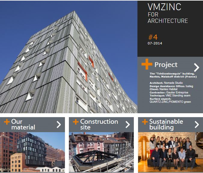 News: VMZINC launch the 4th issue of Newsletter