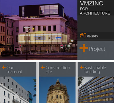 News: VMZINC launch the 6th issue of Newsletter